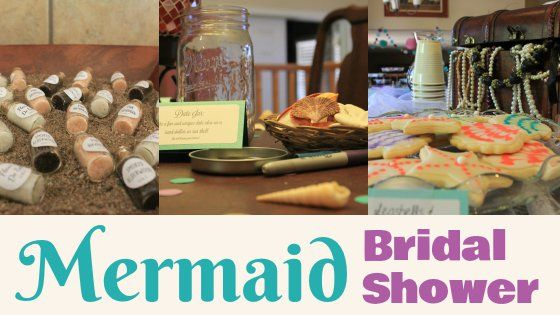 Mermaid bridal shower details! Food, decor, games, and more!