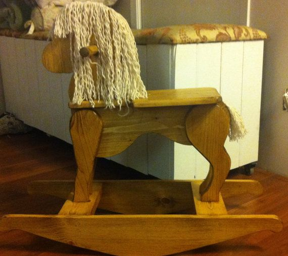 Wooden unfinished Pine Children's Rocking by CanadianWoodenCrafts