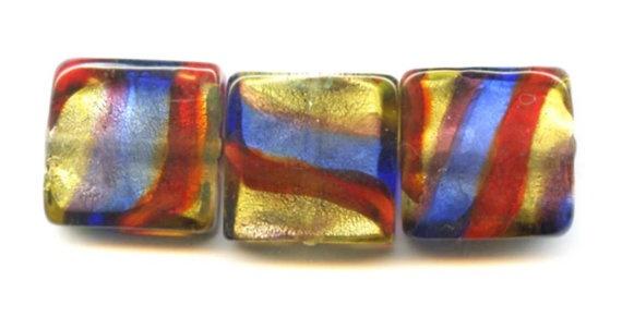 Vintage glass foil beads