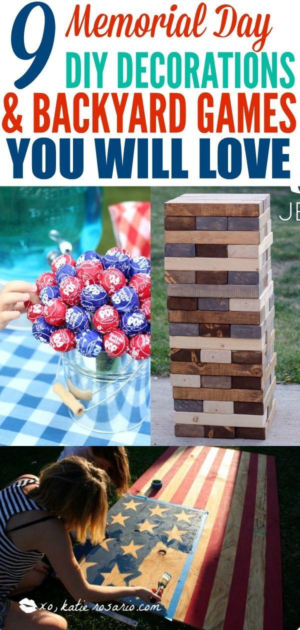 9 Clever Patriotic Diy Projects Decor Ideas For Memorial Day Katie Rosario Patriotic Diy Patriotic Decorations Diy Memorial Day Decorations