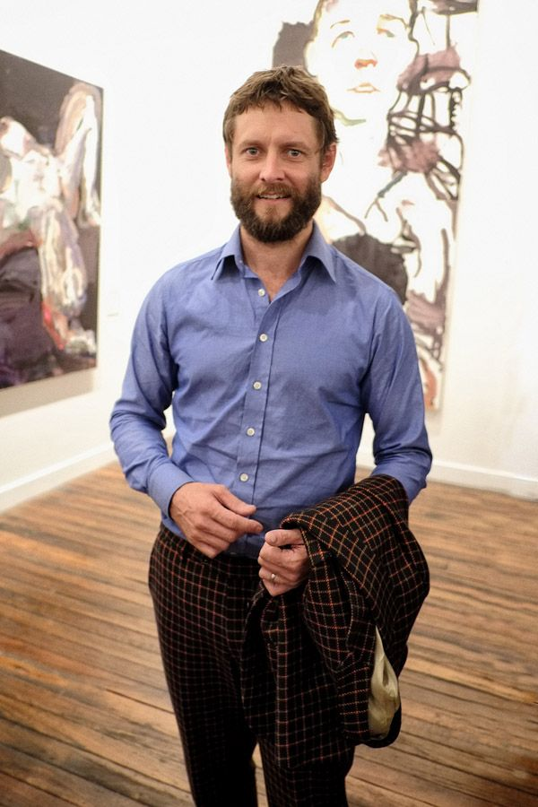 Portrait of artist Ben Quilty at the opening of 'after Afghanistan' NAS 2013 by Kent Johnson.