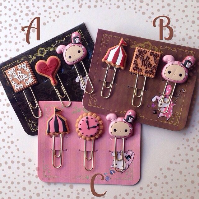 Polymer clay paper clips