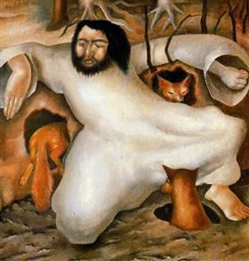 Christ in the Wilderness - The foxes have holes - Stanley Spencer