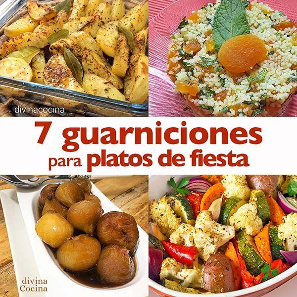 Aquí vais a encontrar una selección de guarniciones para platos de fiesta, fáciles de hacer y con ingredientes sencillos.