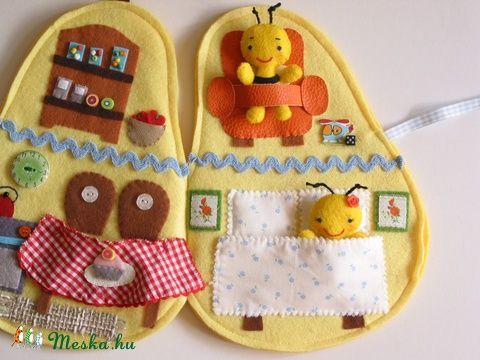 Zümi and Zizi méhecse körtekuckója- játszókönyvecske, baby-mother-child toy, dolls, dollhouse, Skills game Mesko