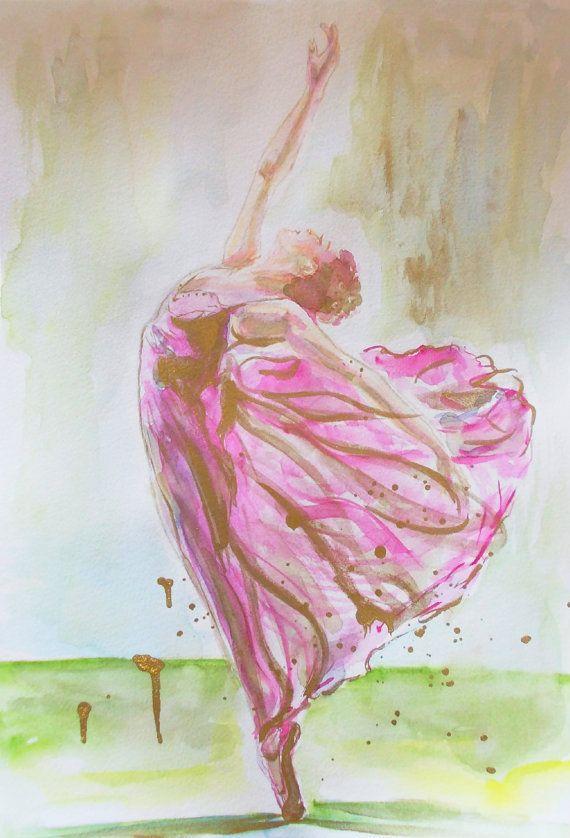 Original ballerina paintingballerina by AntigoniArtGallery on Etsy
