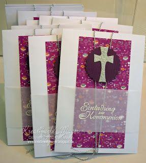 Einladungskarten für Kommunion und Konfirmation / Invitation card