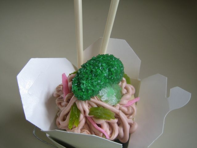 Chinese Takeout Cupcake | I Sing In The Kitchen | Pinterest