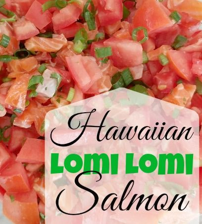 Hawaiian Lomi Lomi Salmon-This Lomi Lomi Salmon is what heaven tastes like. Try this easy traditional Hawaiian dish and experience the islands from your own kitchen. <3