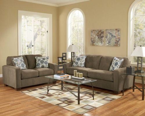 Rent Furniture Ashley Kreeli Toffee 7 Piece Living Room Group