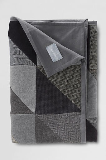 Patchwork Quilted Throw from Lands End - hmmmm all of those Pendleton wool pieces I have.....