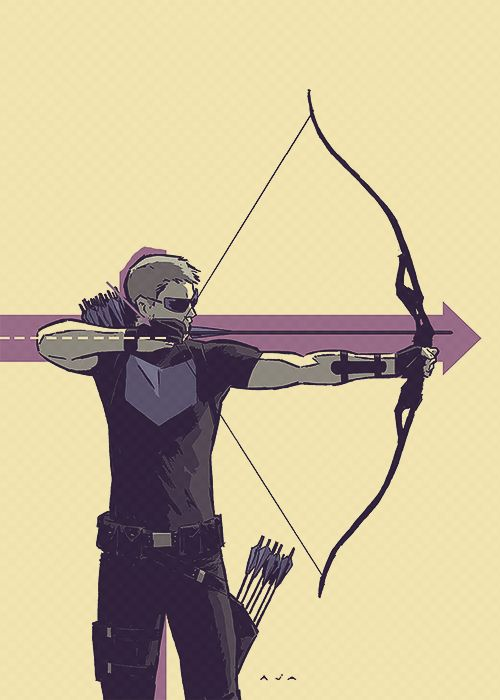 CLINT BARTON AS HAWKEYE
