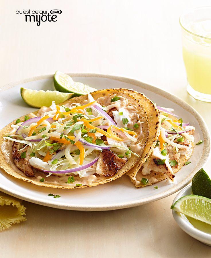 Tacos mexicana au poisson grillé #recette