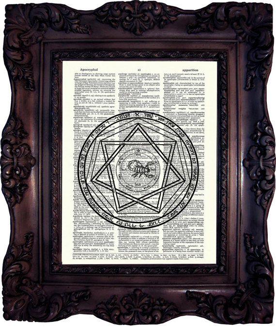 Marque de anti-possession Print sur Dictionnaire Page diables piège symbole de possession Art Print surnaturel affiche Anti Sam Winchester c: 572