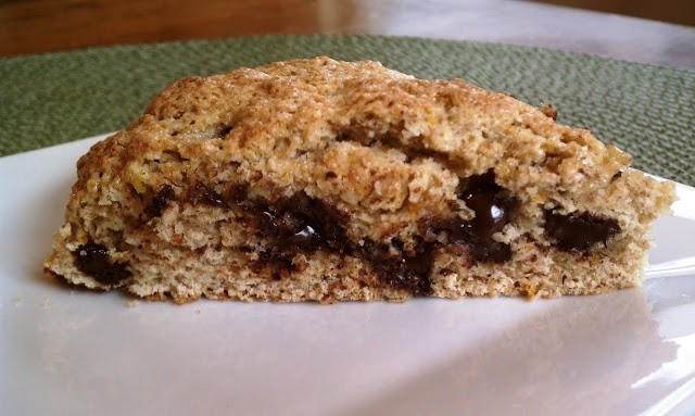 Orange Dark Chocolate Chip Scones | My future meal | Pinterest