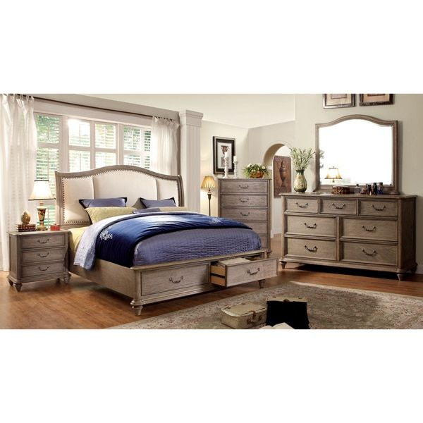 Furniture Of America Minka Iv Rustic Grey 4 Piece Bedroom Set