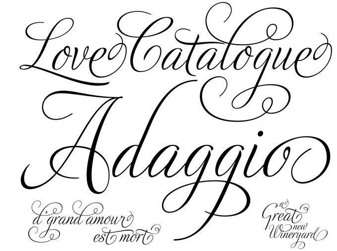 best script tattoo font