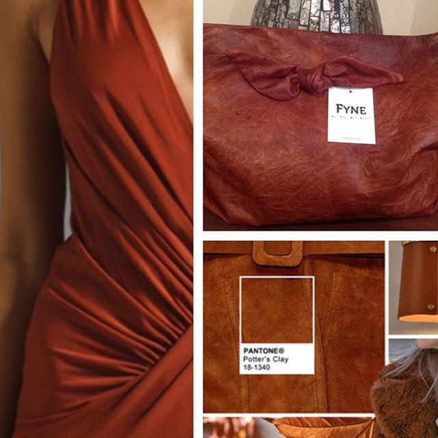 Potters clay is the autumn orange in the pantone colour chart. #FYNEbags…