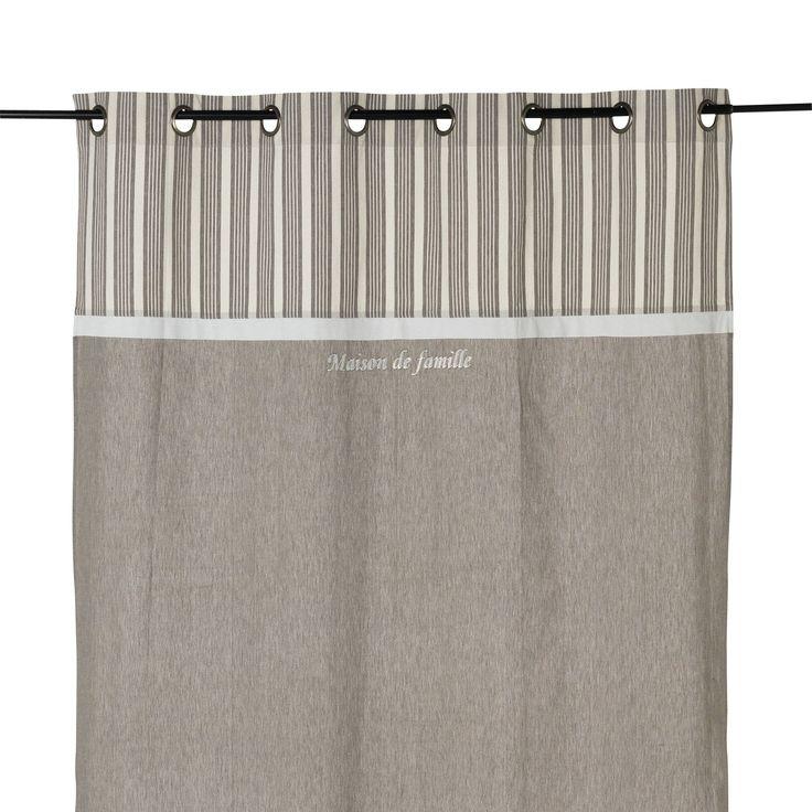 Rideau à œillets gris 135x250cm Gris - Emile - Les rideaux - Textiles et tapis - Salon et salle à manger - Décoration d'intérieur - Alinéa