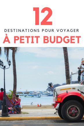 12 destinations pour voyager à petit budget