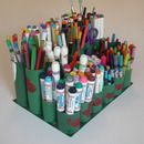 Recycled layered art caddy