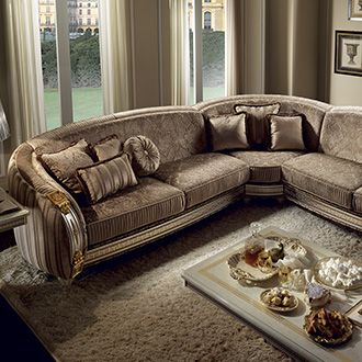Liberty Collection Living Room, Corner Sofa www.arredoclassic.com/living-room/corner-sofas-liberty