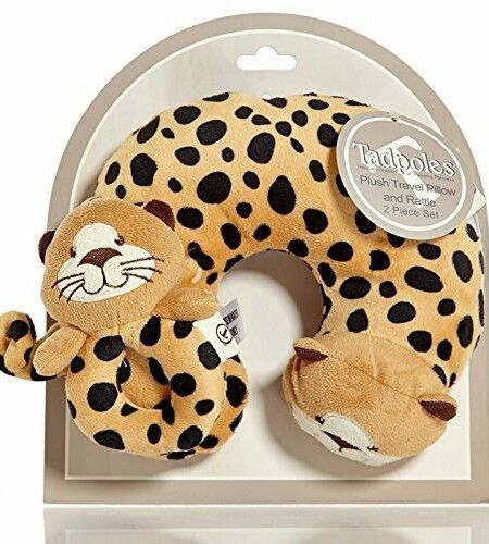 Tadpoles Baby Plush Travel Pillow and Rattle, 2 Pieces - Cheetah  | Baby, Car Safety Seats, Car Seat Accessories | eBay!