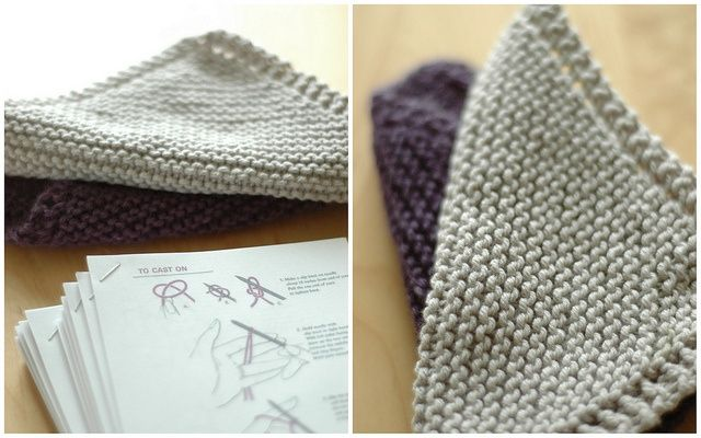 easy knit dishcloths | knitting | Pinterest