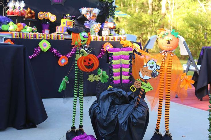 Halloween birthday party decorations! See more party ideas at CatchMyParty.com!