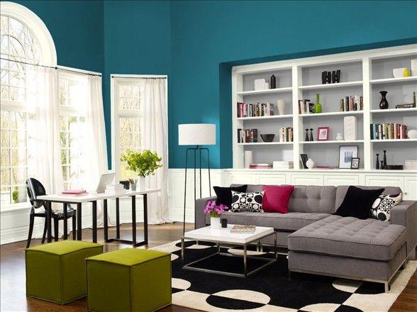 48 best blue walls gray floors images on pinterest for Amherst family room