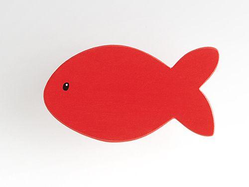 Fisch rot - Möbelgriff / Möbelknopf für Kinderzimmer