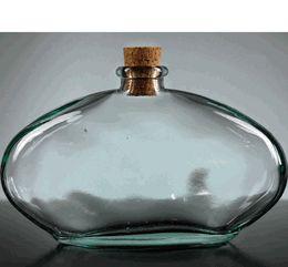 Egyptian Oval Glass Bottle 10 oz