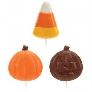 Wilton Lollipop Mould - Candy Corn & Pumpkins Golda's Kitchen