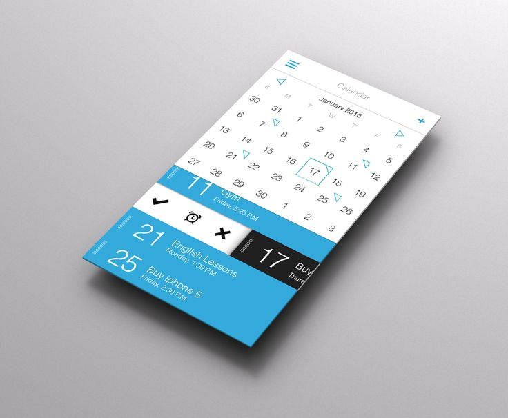 Calendar_mockup. I like the slide-to-set-alarm feature, I'm assuming upon clicking on the date of the appointment. The minimalist color scheme and simple teal outline for dates containing appointments are also fairly pleasing to the eye.