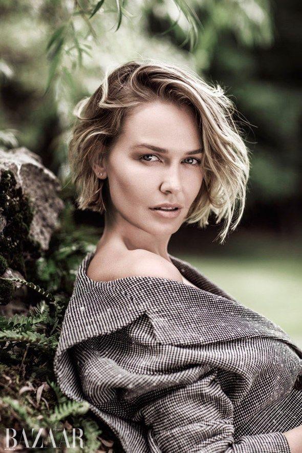 Lara worthington harpers bazaar november issue hair