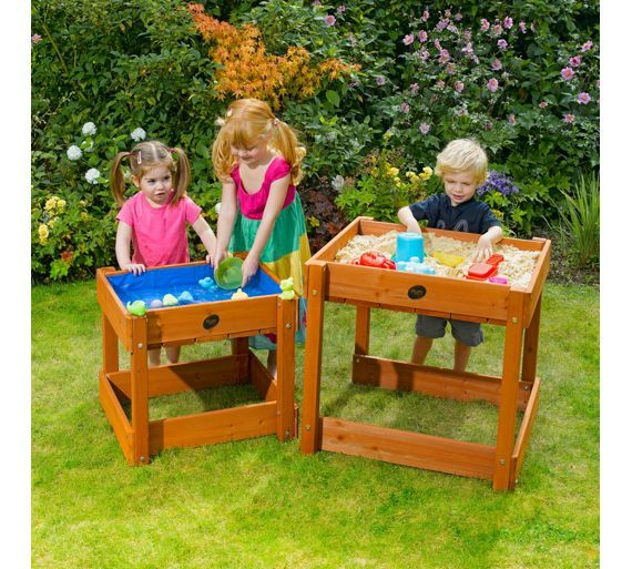 Buy Plum Sandy Bay Wooden Sand Pit and Water Table at Argos.co.uk, visit Argos.co.uk to shop online for Sandpits and play tables, Sandpits, sand and play tables, Outdoor toys, Toys