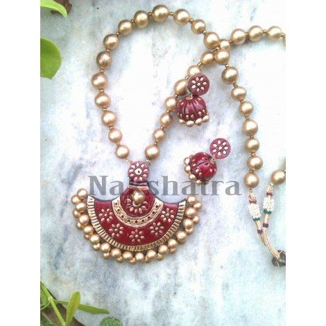 terracota jewelery   Terracotta Jewelry necklace set-Jewellery-Nakshatra - Terracotta ...