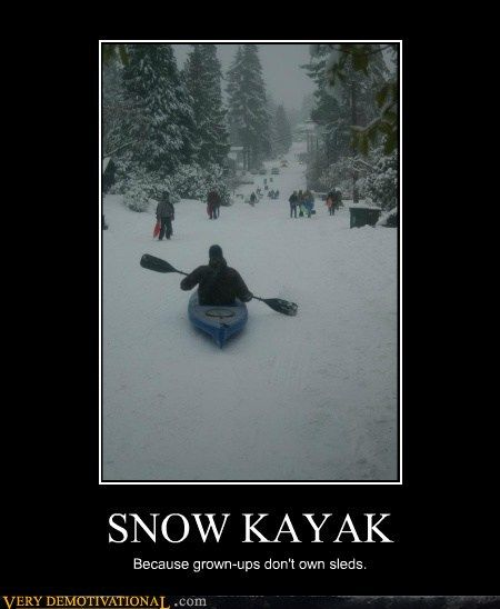 Snow kayak | Boardtrader.com for new and used kayaks, canoes, etc.  What you use it for is up to you