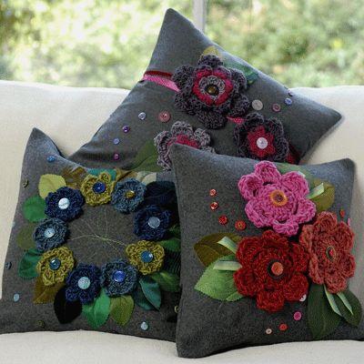 Gorgeous Grey Wool Cushions