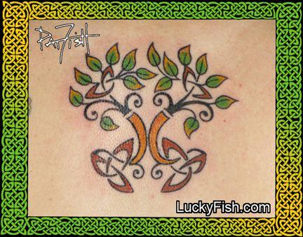 spring forward tree of life tattoo by pat fish