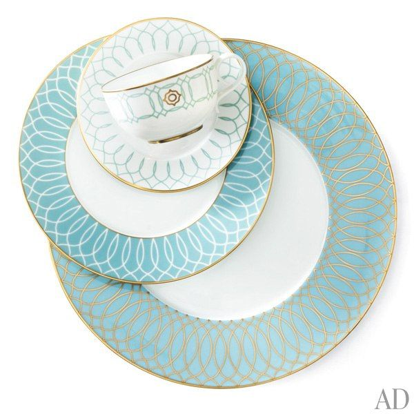 April\u0027s Most-Wanted Home Furnishings and Accessories. Dinnerware IdeasBlue ...  sc 1 st  Pinterest & 100+ best Teal turquoise aqua dinnerware images by Rebecca Ansari on ...