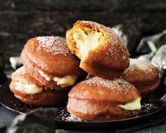 Eggnog Cream-Filled Pumpkin Doughnuts