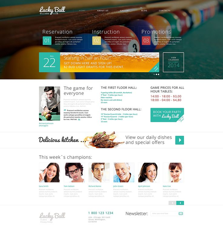 Billiards Drupal Template #49524