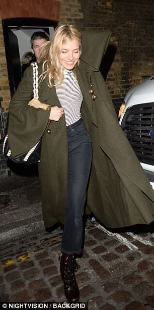 Sienna Miller joins Noel Gallagher for dinner in London | Daily Mail Online