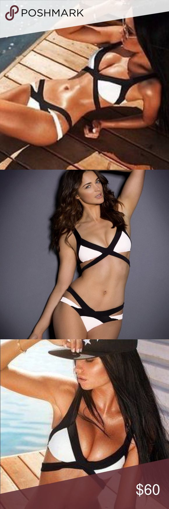 Sexy bandage cut out bikini Various sizes. Compare to agent provocateur. White and black. Swim Bikinis