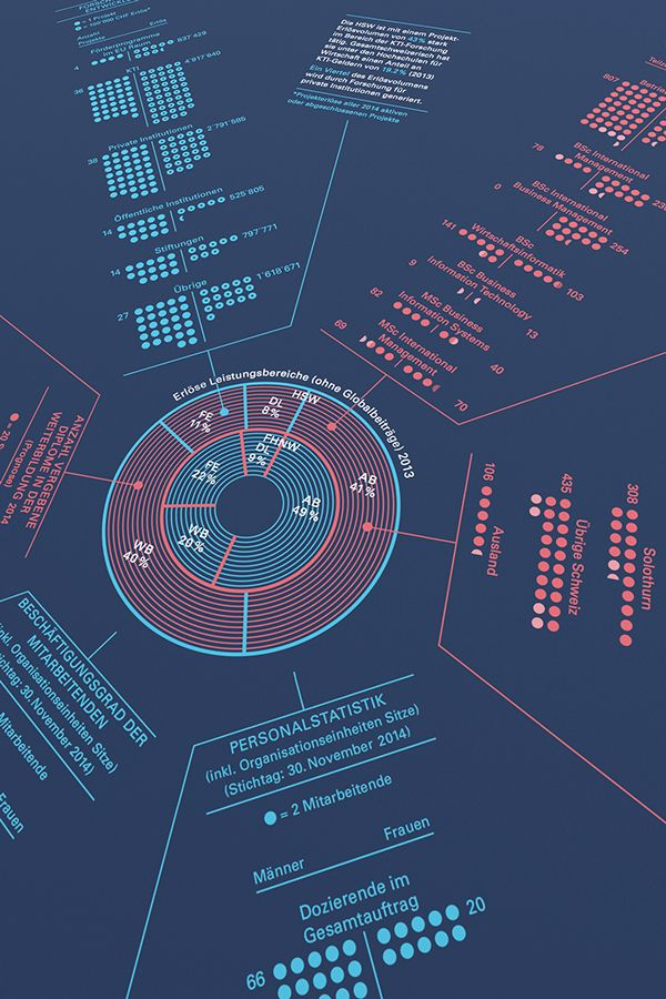 Annual report as a printed data visualization poster for FHNW made by…