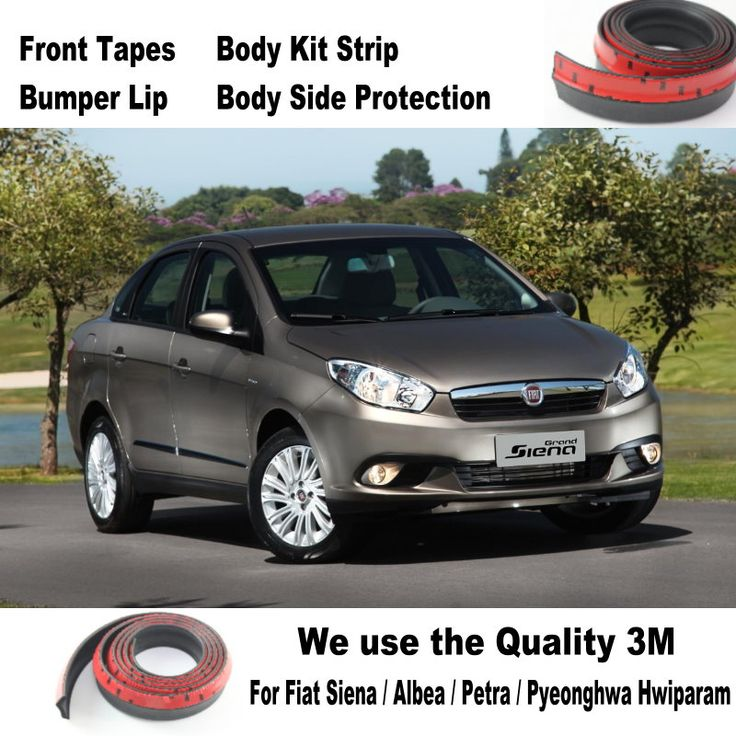 Car Bumper Lips For Fiat Siena / Albea / Petra / Pyeonghwa Hwiparam / Body Kit Strip / Front Tapes Body Chassis Side Protection