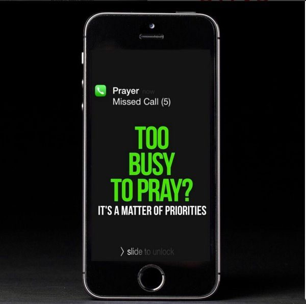 DON'T MISS YOUR PRAYERS