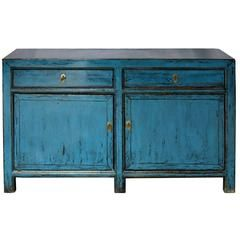 Two-Drawer Blue Sideboard