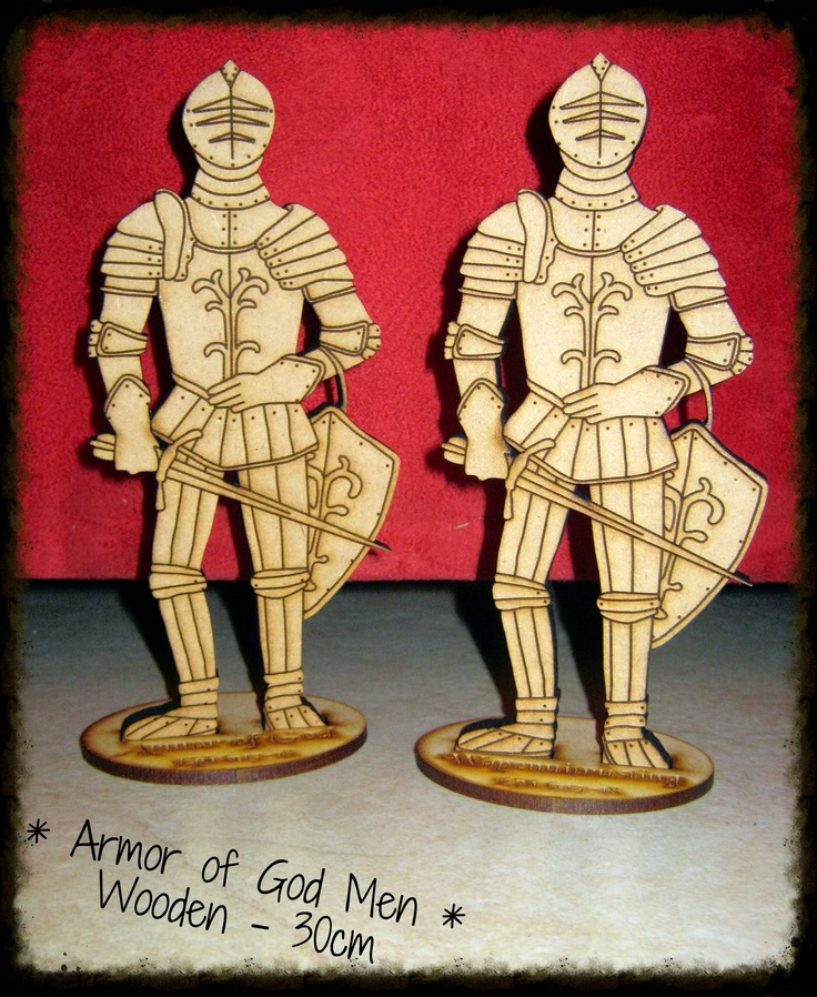 Amazing Wooden Armor of God Statues @ 30cm high for R100 each. - Ephesians 6:10-18.